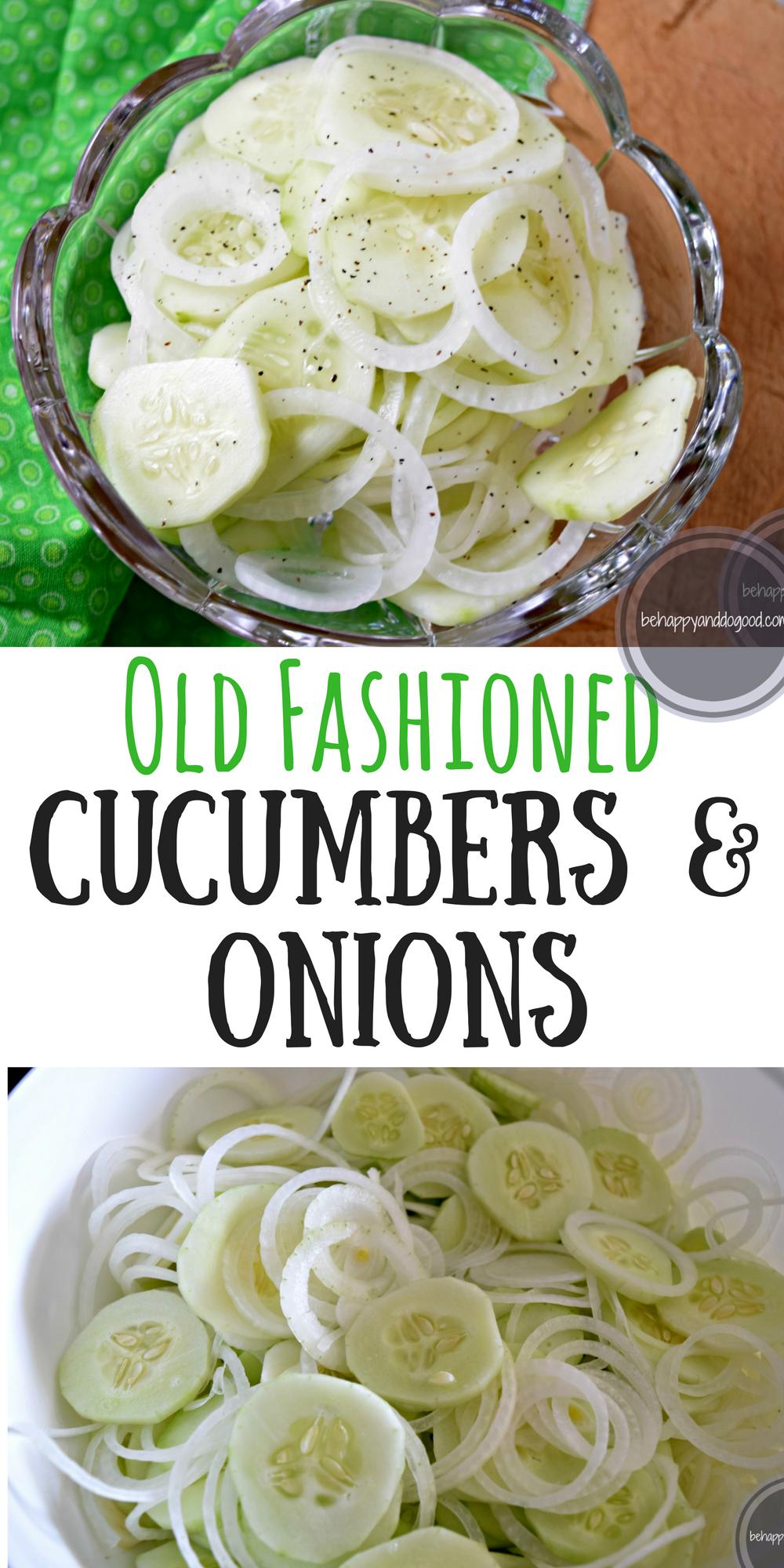 Old Fashioned Cucumber Onion Salad