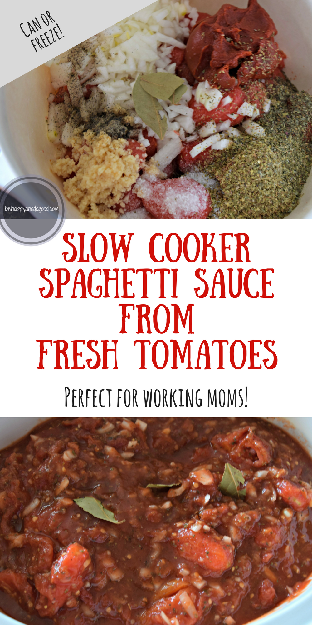 Slow Cooker Spaghetti Sauce From Garden Tomatoes Perfect